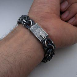 Серебряный браслет бисмарк, альтернативная обработка